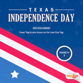 Online Editable Texas Independence Day March 2 Social Media Post
