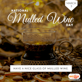 Online Editable National Mulled Wine Day March 3 Social Media Post