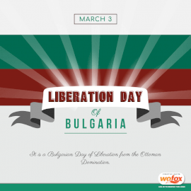 Online Editable Liberation Day Of Bulgaria March 3 Social Media Post