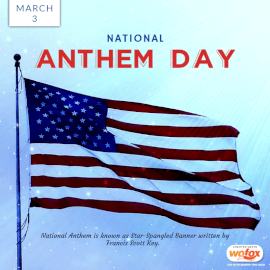 Online Editable National Anthem Day in USA March 3 Social Media Post