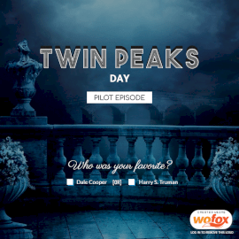 Online Editable Twin Peaks Day February 24 Social Media Post