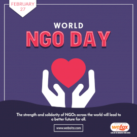 Online Editable World NGO Day Quote February 27 Social Media Post