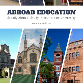 Online Editable Overseas Education 4 Grid Photo Collage