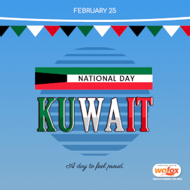 Online Editable National Day in Kuwait February 25 Social Media Post