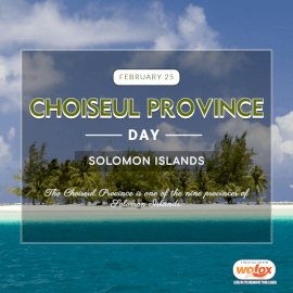 Online Editable Choiseul Province Day in Solomon Islands February 25 Social Media Post