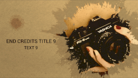 Online Editable Professional Photography End Credits Template Video Slideshow