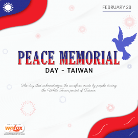 Online Editable Peace Memorial Day in Taiwan February 28 Social Media Post