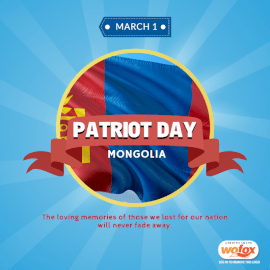 Online Editable Patriots' Day Quote in Mongolia March 1 Social Media Post