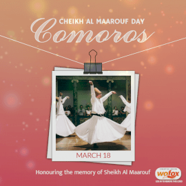 Online Editable Cheikh Al Maarouf Day in Comoros March 18 Social Media Post