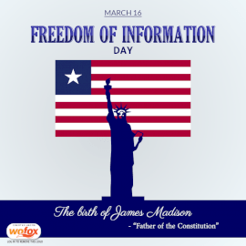 Online Editable National Freedom of Information Day March 16 Social Media Post