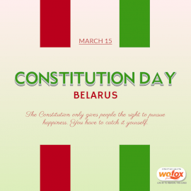 Online Editable Constitution Day in Belarus March 15 Social Media Post