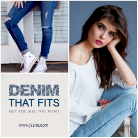 Online Editable Denim Branded Jeans 2 Grid Photo Collage