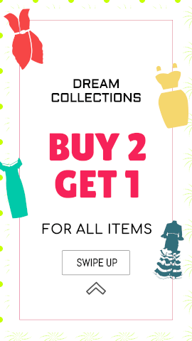 Online Editable Ladies Clothes Dream Collection Offer Sales & Promotion Story
