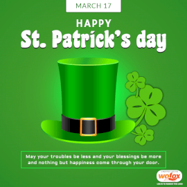 Online Editable Saint Patrick's Day March 17 Social Media Post