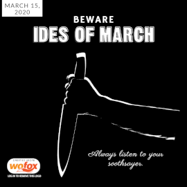 Online Editable Ides of March on March 15 Social Media Post