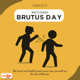 Online Editable National Brutus Day March 15 Social Media Post