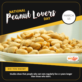 Online Editable National Peanut Lovers Day March 15 Social Media Post