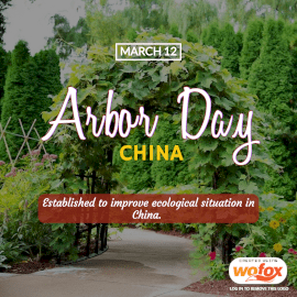 Online Editable Arbor Day in China March 12 Instagram Post