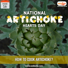Online Editable National Artichoke Hearts Day March 16 Instagram Post