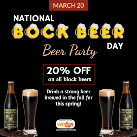 Online Editable National Bock Beer Day March 20 Instagram Post