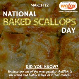 Online Editable National Baked Scallops Day March 12 Instagram Post