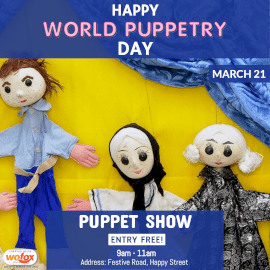 Online Editable World Puppetry Day March 21 Instagram Post