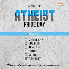 Online Editable Atheist Pride Day March 20 Instagram Post