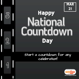 Online Editable National Countdown Day March 21 Instagram Post