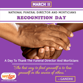 Online Editable National Funeral Director and Mortician Recognition Day March 11 Instagram Post