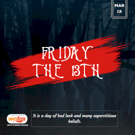 Online Editable Friday The 13th March 13 Instagram Post