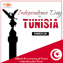 Online Editable Independence Day in Tunisia March 20 Instagram Post