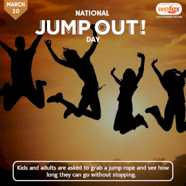 Online Editable National Jump Out! Day March 20 Instagram Post