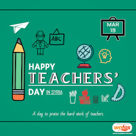 Online Editable Teachers' Day in Syria March 18 Instagram Post