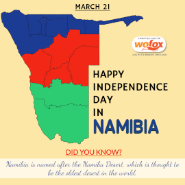 Online Editable Independence Day in Namibia March 21 Instagram Post