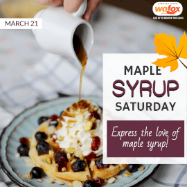 Online Editable Maple Syrup Saturday Instagram Post