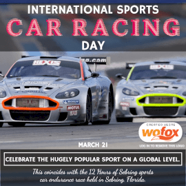 Online Editable International Sports Car Racing Day Instagram Post