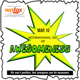 Online Editable International Day of Awesomeness March 10 Instagram Post
