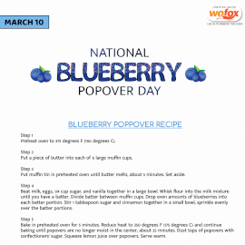 Online Editable National Blueberry Popover Day March 10 Instagram Post