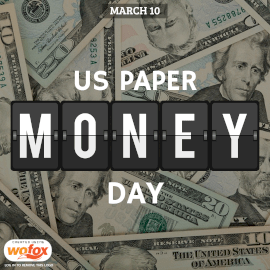 Online Editable US Paper Money Day March 10 Instagram Post