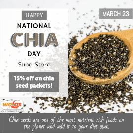 Online Editable National Chia Day March 23 Instagram Post