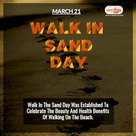 Online Editable Walk in the Sand Day March 21 Instagram Post