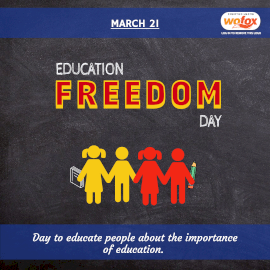 Online Editable Education Freedom Day March 21 Instagram Post