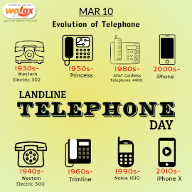 Online Editable National Landline Telephone Day March 10 Instagram Post