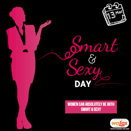 Online Editable Smart and Sexy Day March 13 Instagram Post