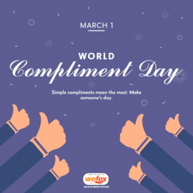 Online Editable World Compliment Day March 1 Social Media Post