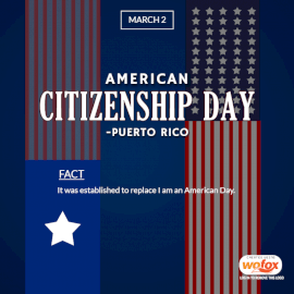 Online Editable American Citizenship day in Puerto Rico March 2 Social Media Post