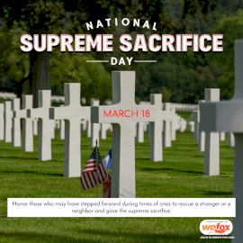 Online Editable National Supreme Sacrifice Day March 18 Social Media Post