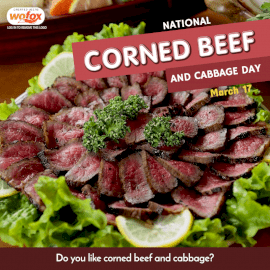 Online Editable National Corned Beef and Cabbage Day March 17 Social Media Post