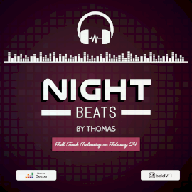 Online Editable Night Beats Audio Spectrum Square GIF Template