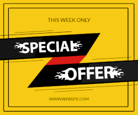 Online Editable Fire Speed Special Offer Instagram Post